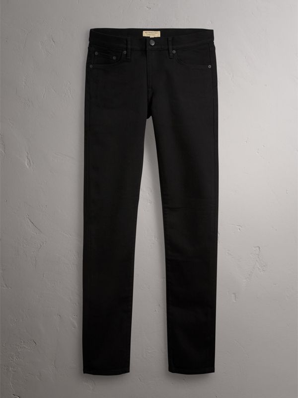Slim Fit Stretch-denim Jeans in Black - Men | Burberry Hong Kong - cell image 3