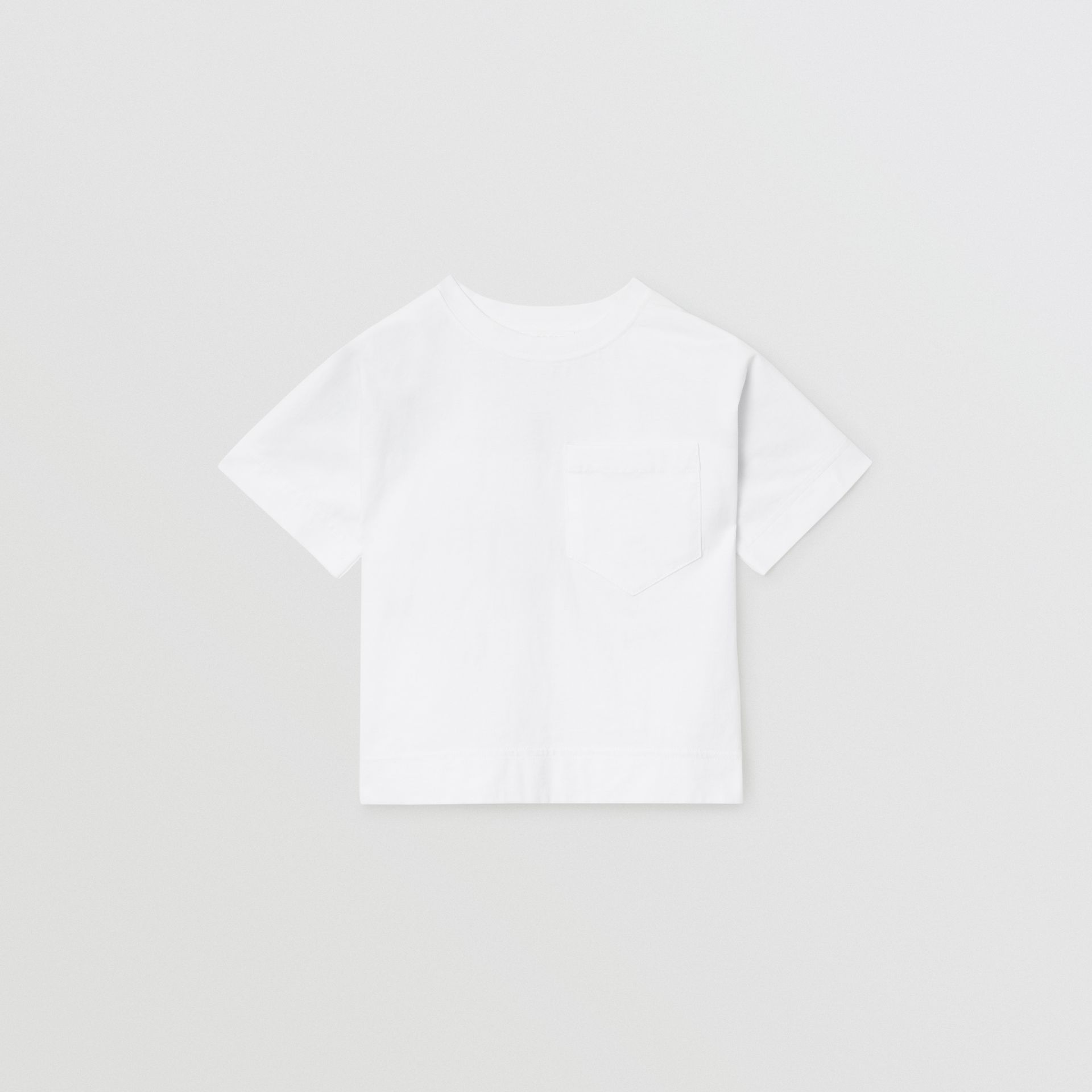 Horseferry Print Cotton T-shirt in White | Burberry - gallery image 0