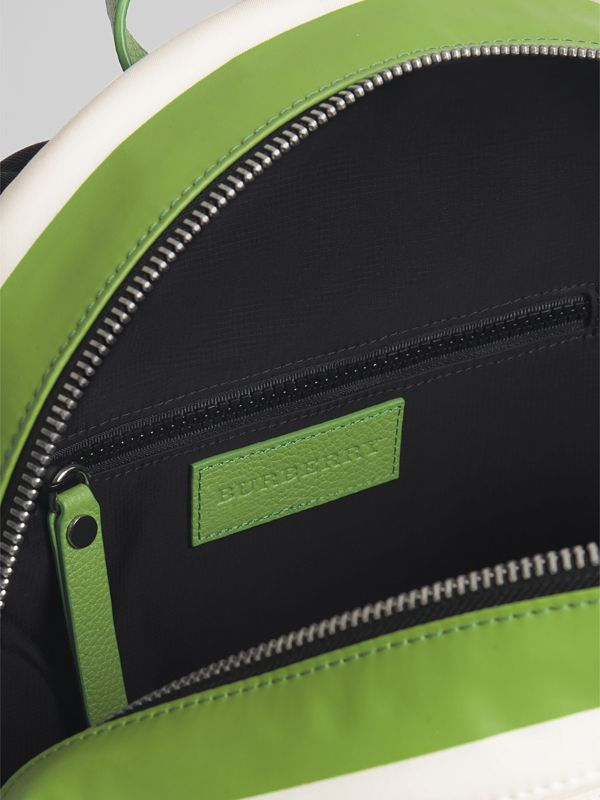 Adventure Print Cotton Canvas Backpack in Grass Green | Burberry - cell image 3