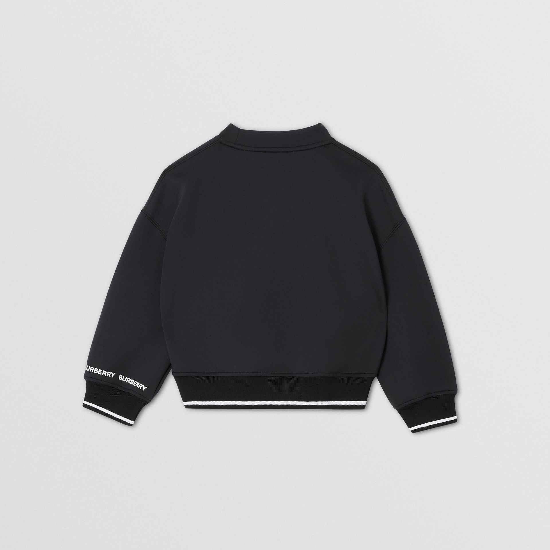 Sweat-shirt en néoprène à imprimé cierge magique (Noir) | Burberry Canada - photo de la galerie 3