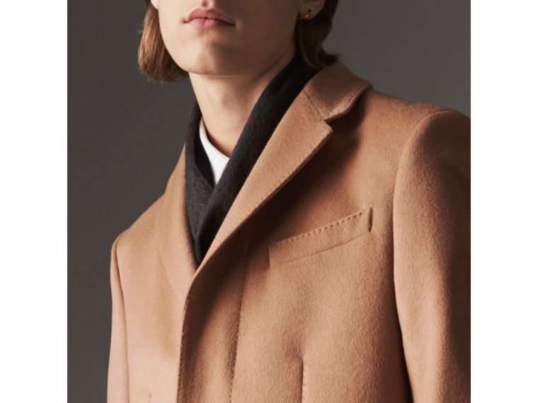 Wool Cashmere Tailored Coat in Camel - Men | Burberry United Kingdom - cell image 4