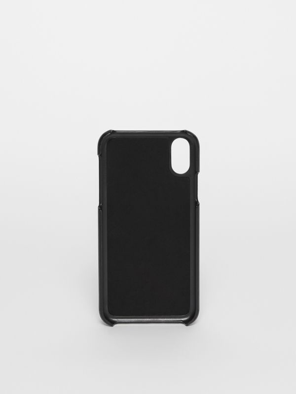 Monogram Motif Leather iPhone X/XS Case in Black - Men | Burberry - cell image 3