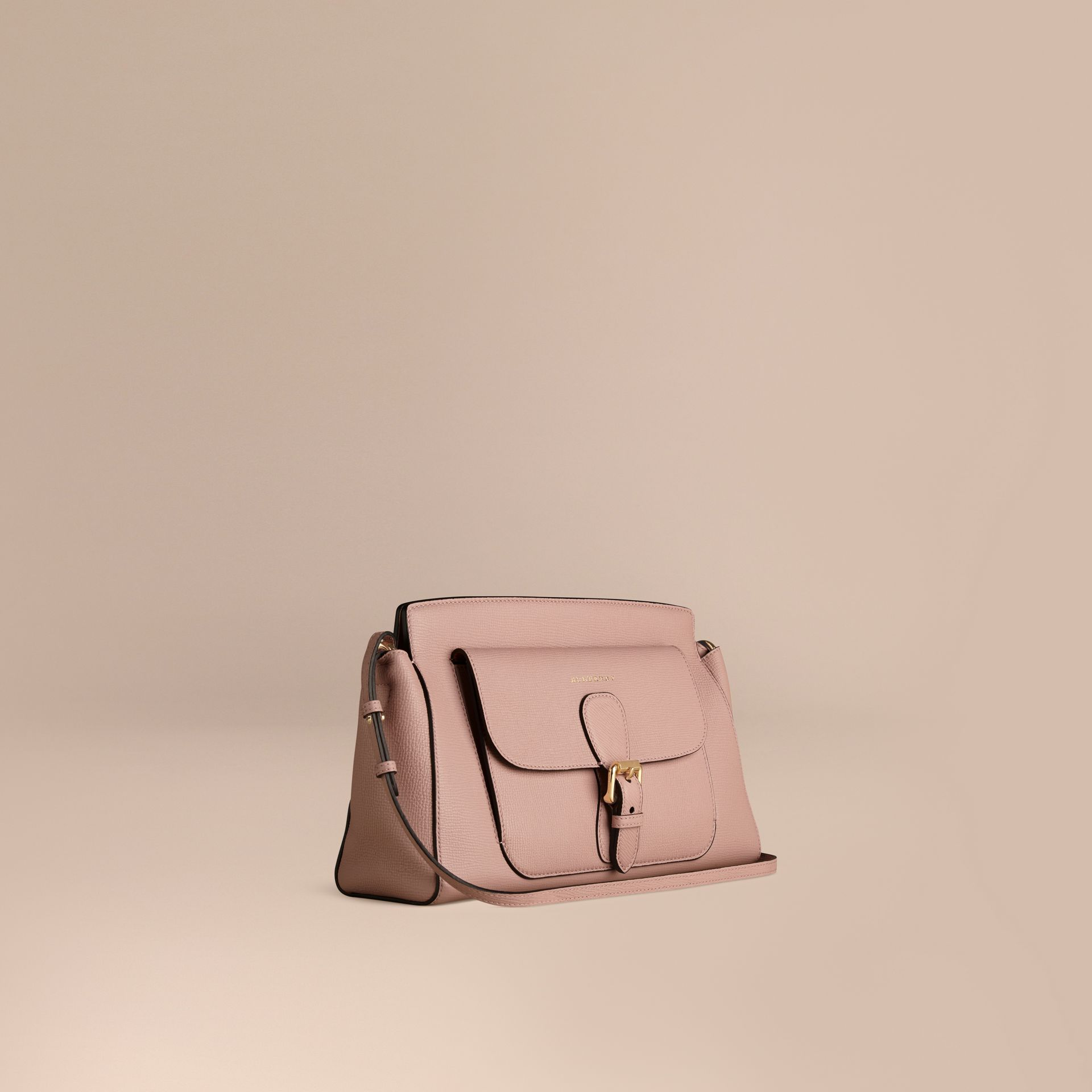 Pale orchid The Saddle Clutch in Grainy Bonded Leather - gallery image 1