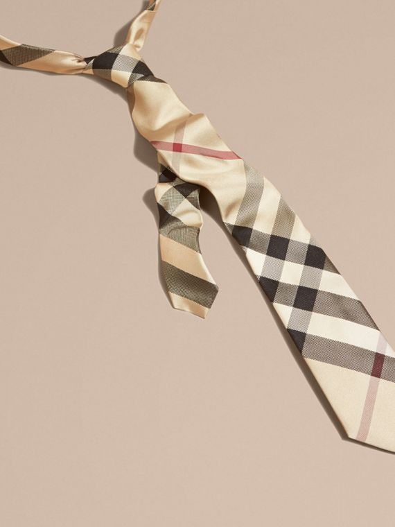 New classic check Modern Cut Check Silk Tie - cell image 2