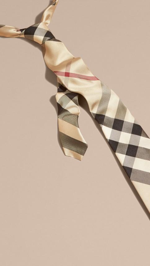 New classic check Modern Cut Check Silk Tie - Image 3