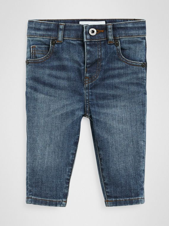 Jeans skinny in denim stretch (Indaco Medio)