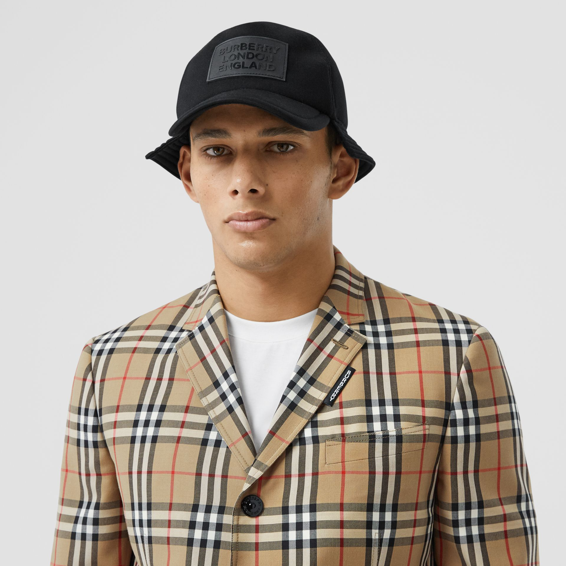 Slim Fit Vintage Check Wool Mohair Tailored Jacket in Archive Beige - Men | Burberry United Kingdom - gallery image 1