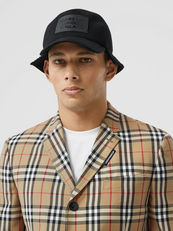 Slim Fit Vintage Check Wool Mohair Tailored Jacket in Archive Beige - Men | Burberry United Kingdom - cell image 1