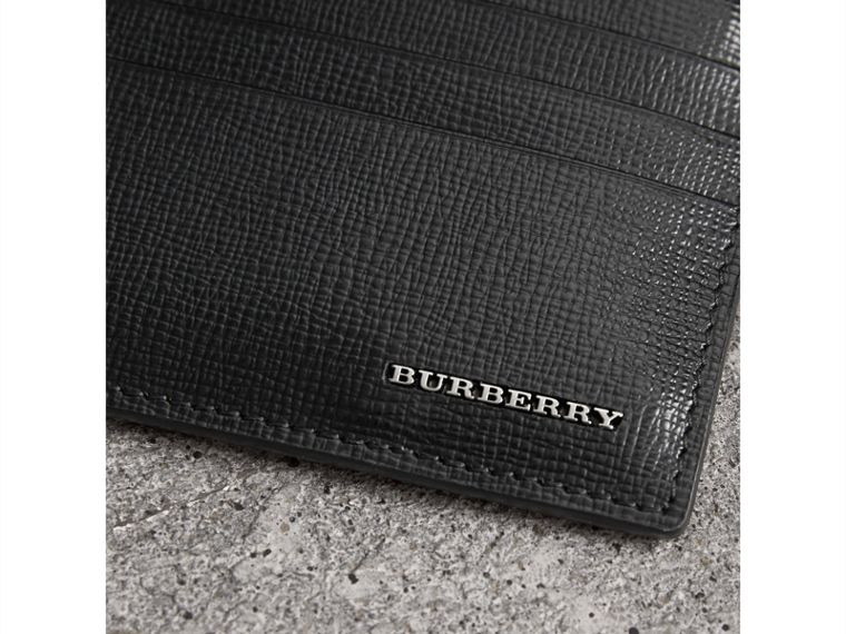 London Leather Zip-top Card Case in Black | Burberry United Kingdom - cell image 1