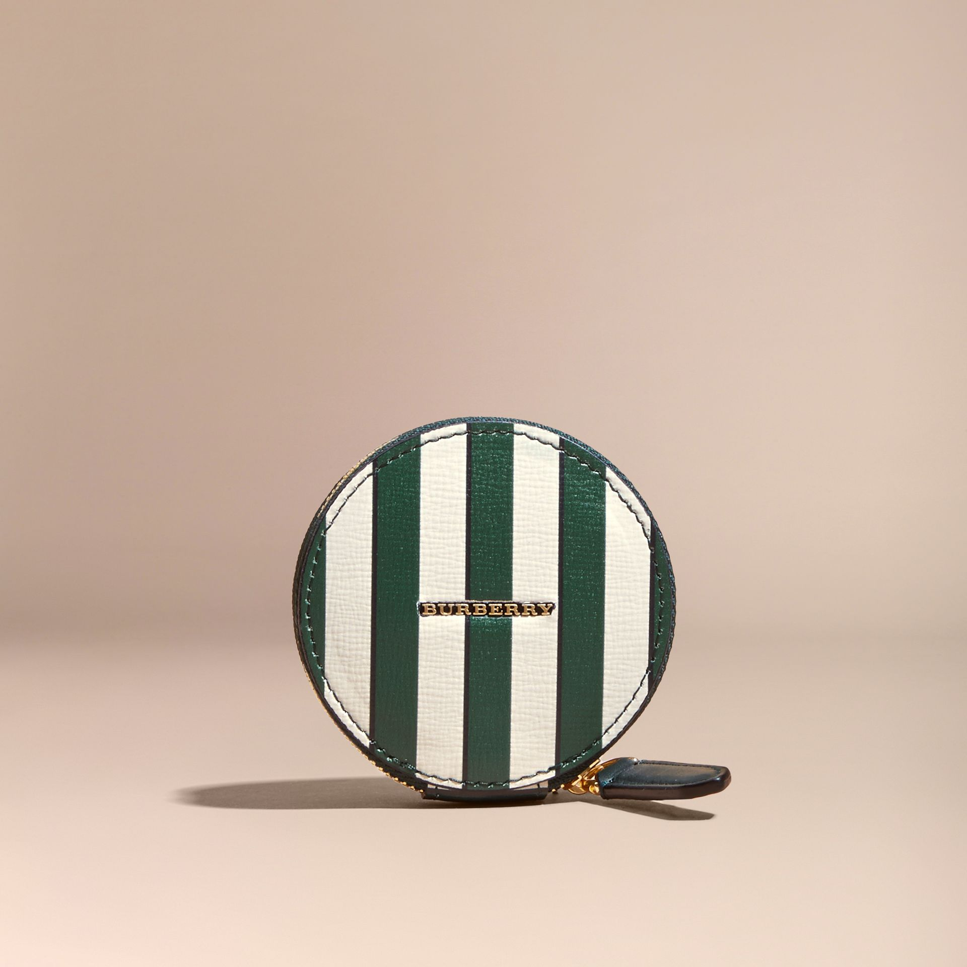 Pyjama Stripe London Leather Coin Case - gallery image 6