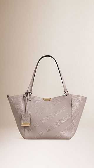 The Small Canter in Check Embossed Leather