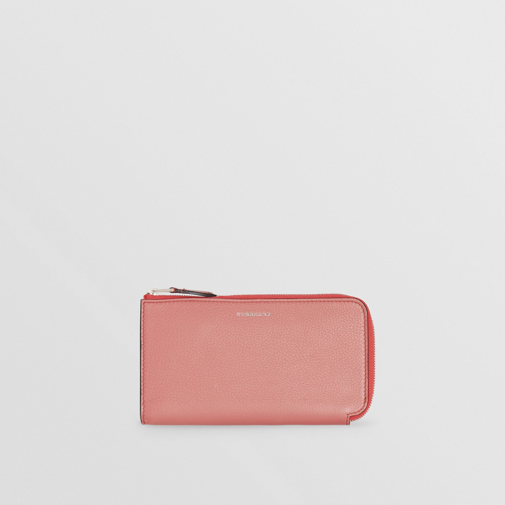 Two-tone Leather Ziparound Wallet and Coin Case in Dusty Rose - Women | Burberry - gallery image 5