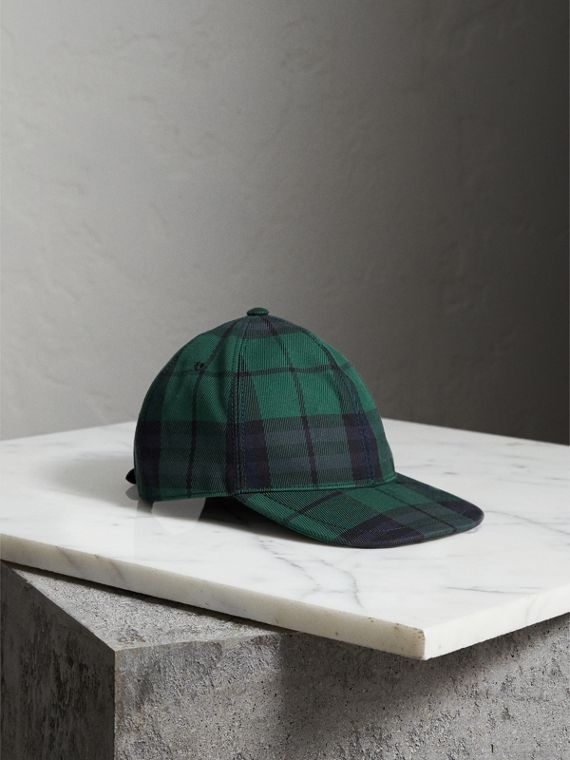 Tartan Baseball Cap in Racing Green