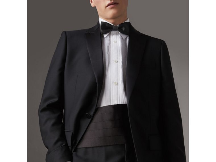 Silk Bow Tie in Black - Men | Burberry Australia - cell image 2