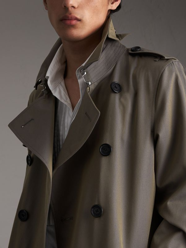 Cotton Gabardine Trench Coat in Storm Blue - Men | Burberry Australia - cell image 3