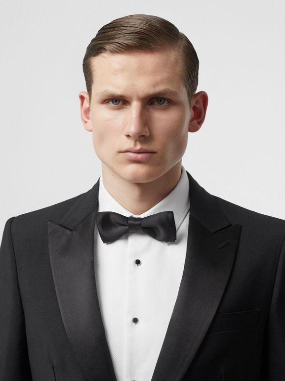 English Fit Mohair Wool Tuxedo in Black - Men | Burberry - cell image 1
