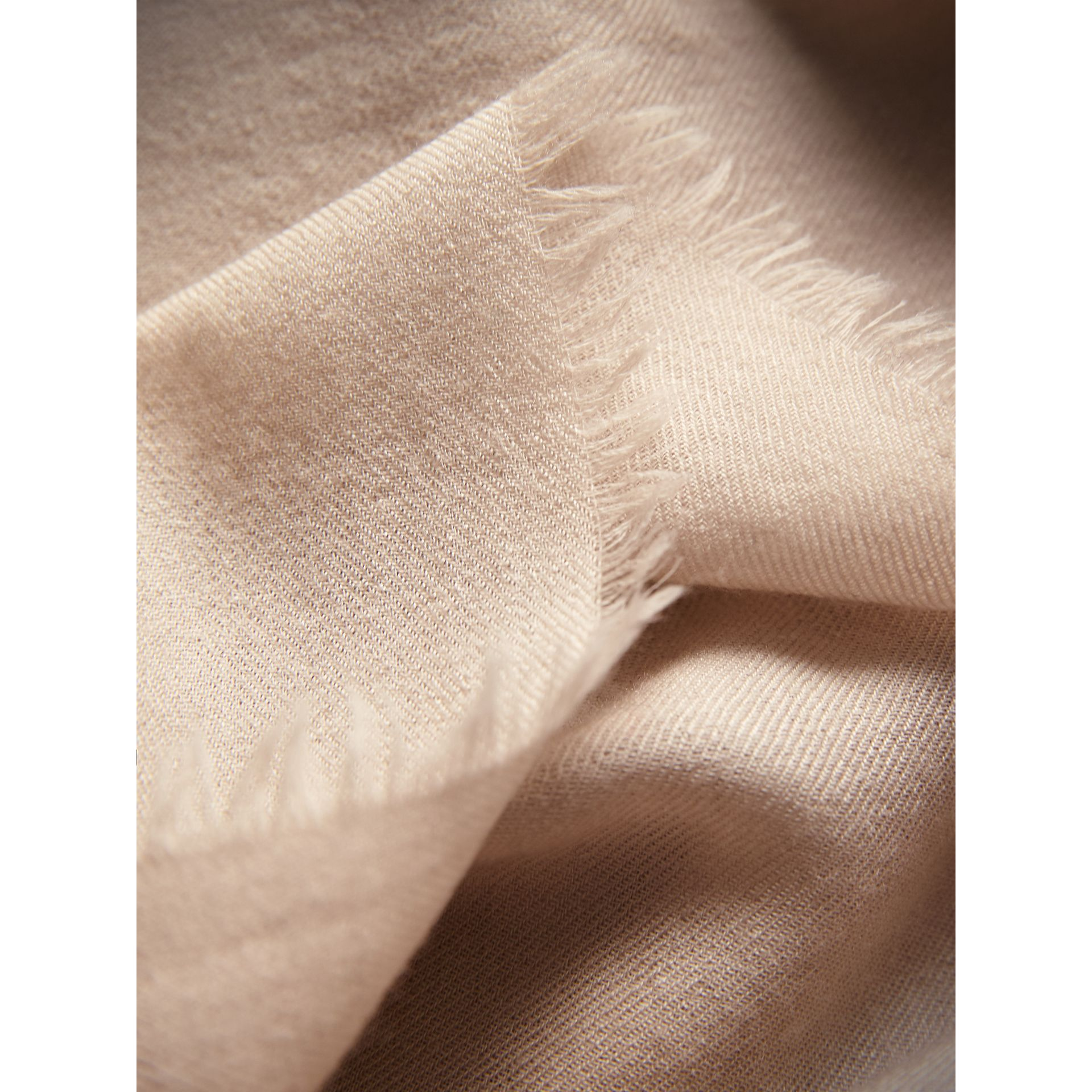 The Lightweight Cashmere Scarf in Stone | Burberry Australia - gallery image 2