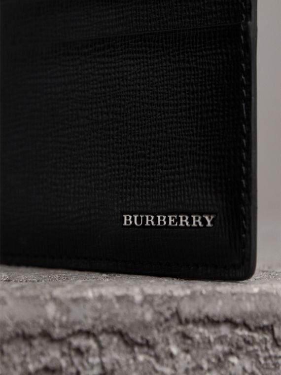 London 皮革卡片夾 (黑色) | Burberry - cell image 2