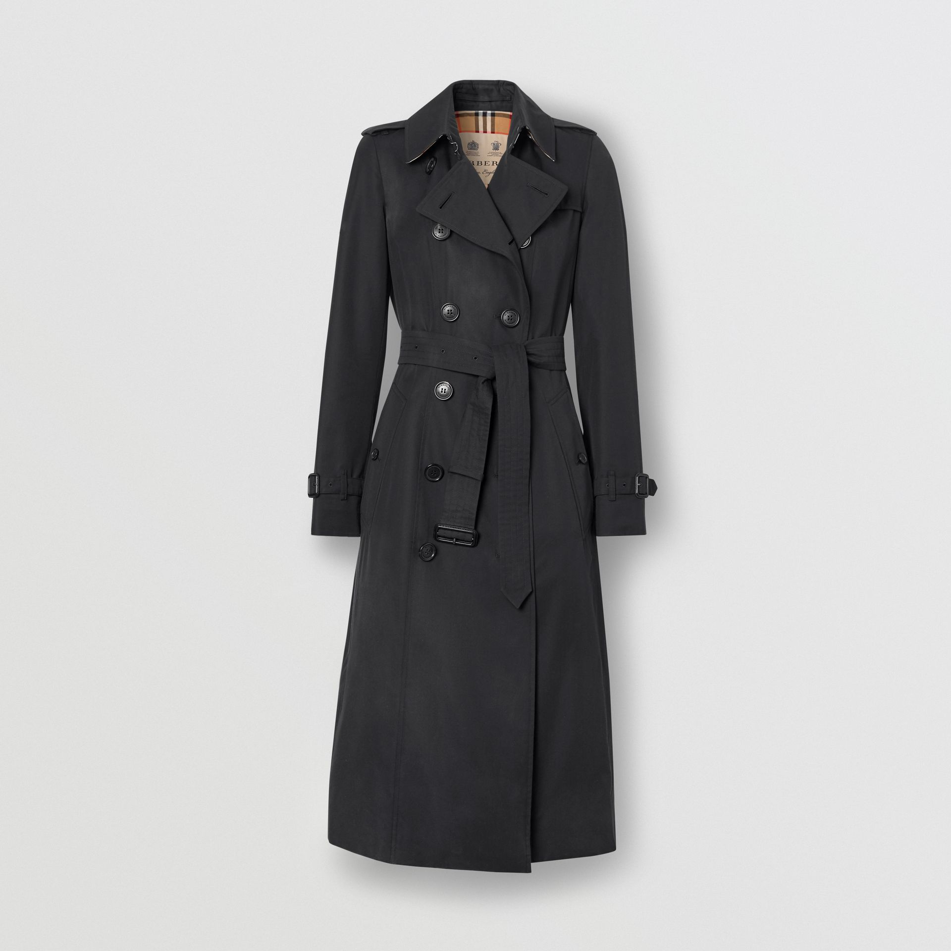 The Long Chelsea Heritage Trench Coat in Midnight - Women | Burberry Singapore - gallery image 3