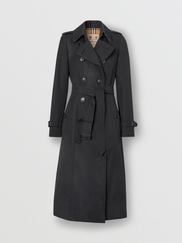 The Long Chelsea Heritage Trench Coat in Midnight - Women | Burberry Singapore - cell image 3