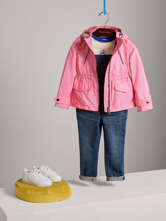 Hooded Packaway Technical Jacket in Peony - Girl | Burberry - cell image 2