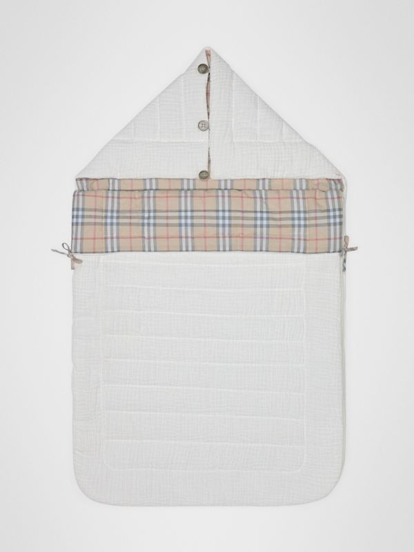 Check Cotton Baby Nest in White - Children | Burberry United States - cell image 2