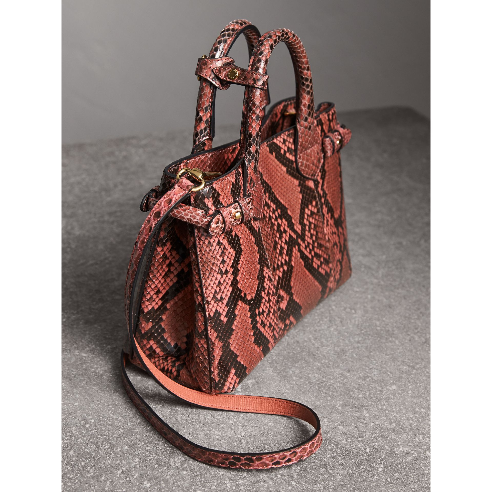 Petit sac The Banner en python (Pivoine) - Femme | Burberry Canada - photo de la galerie 4