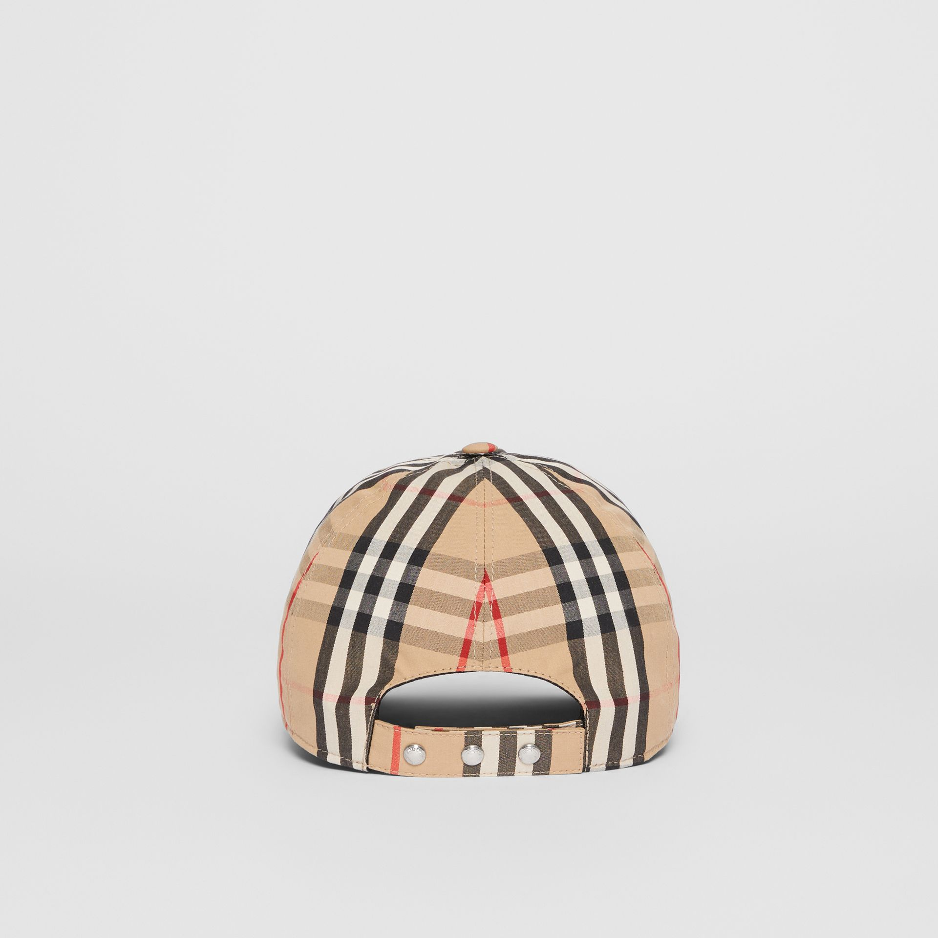 Monogram Motif Vintage Check Baseball Cap in Archive Beige | Burberry - gallery image 6
