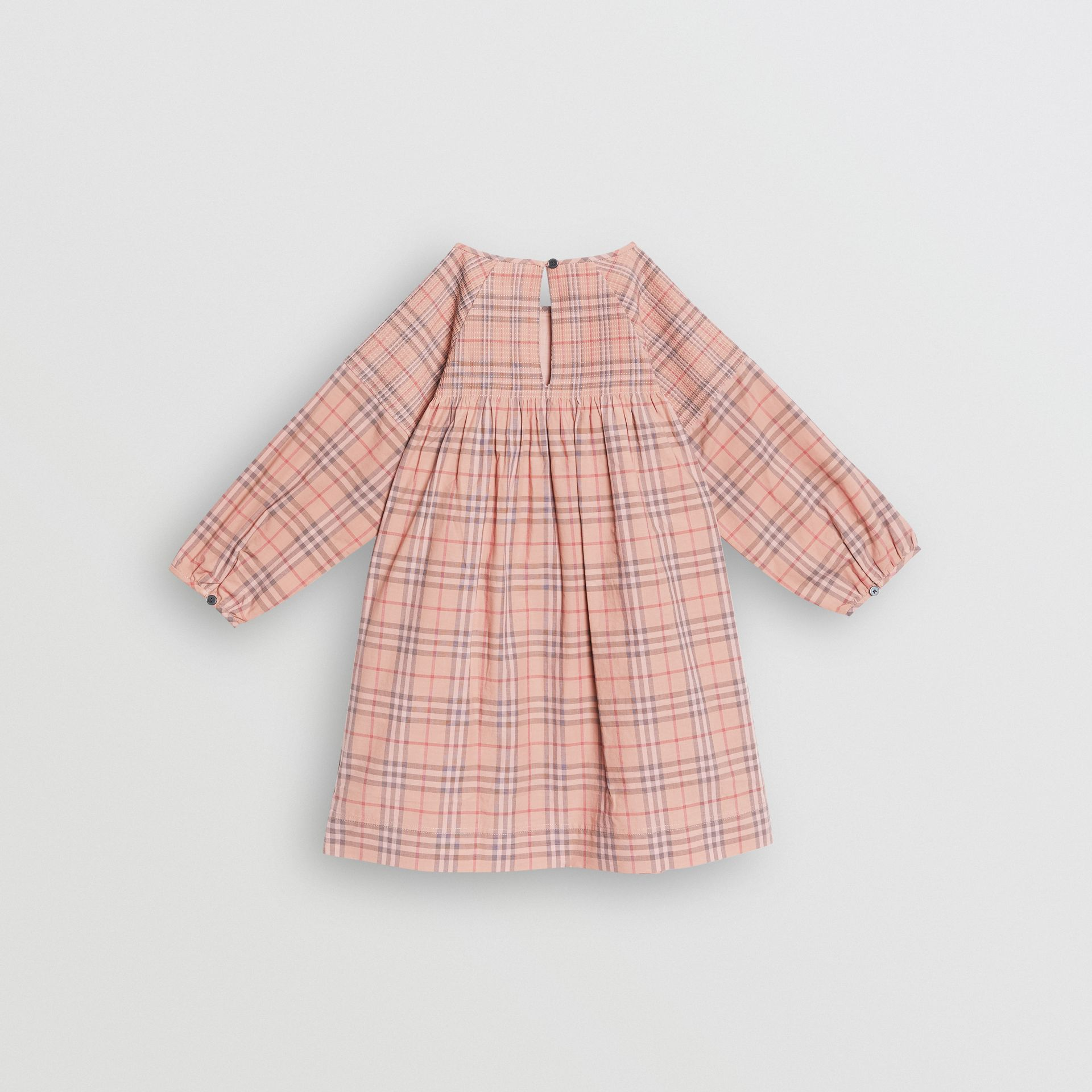 Check Cotton Poplin Dress in Pale Pink | Burberry United States - gallery image 3