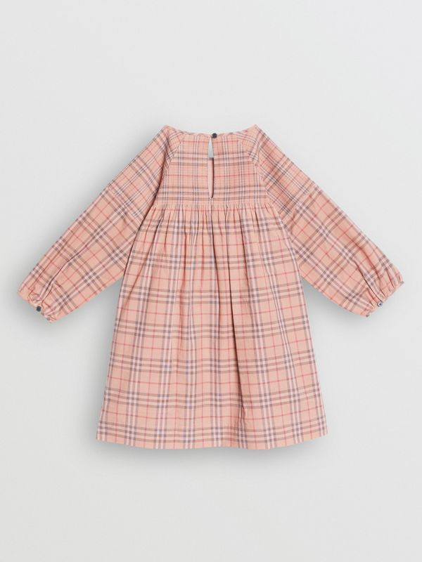 Check Cotton Poplin Dress in Pale Pink - Children | Burberry - cell image 3