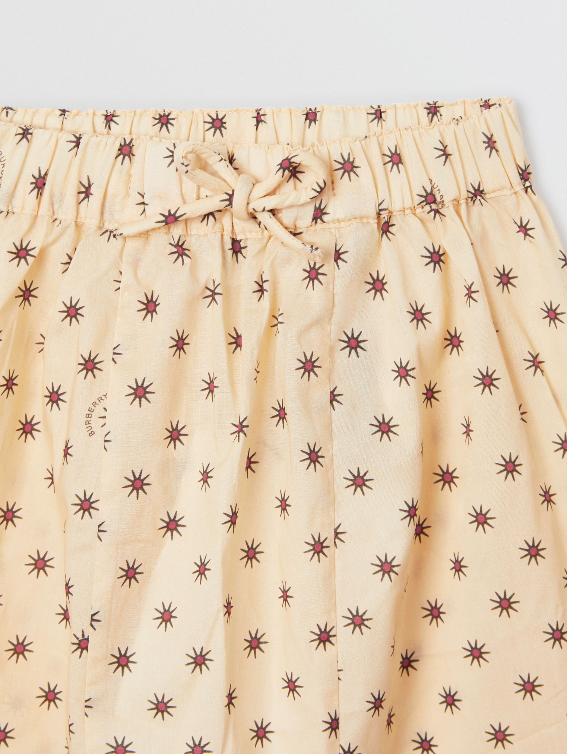 Star Print Cotton Drawcord Trousers in Military Red - Children | Burberry - 2