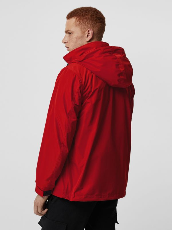 Packaway Hood Shape-memory Taffeta Jacket in Military Red - Men | Burberry Canada - cell image 2