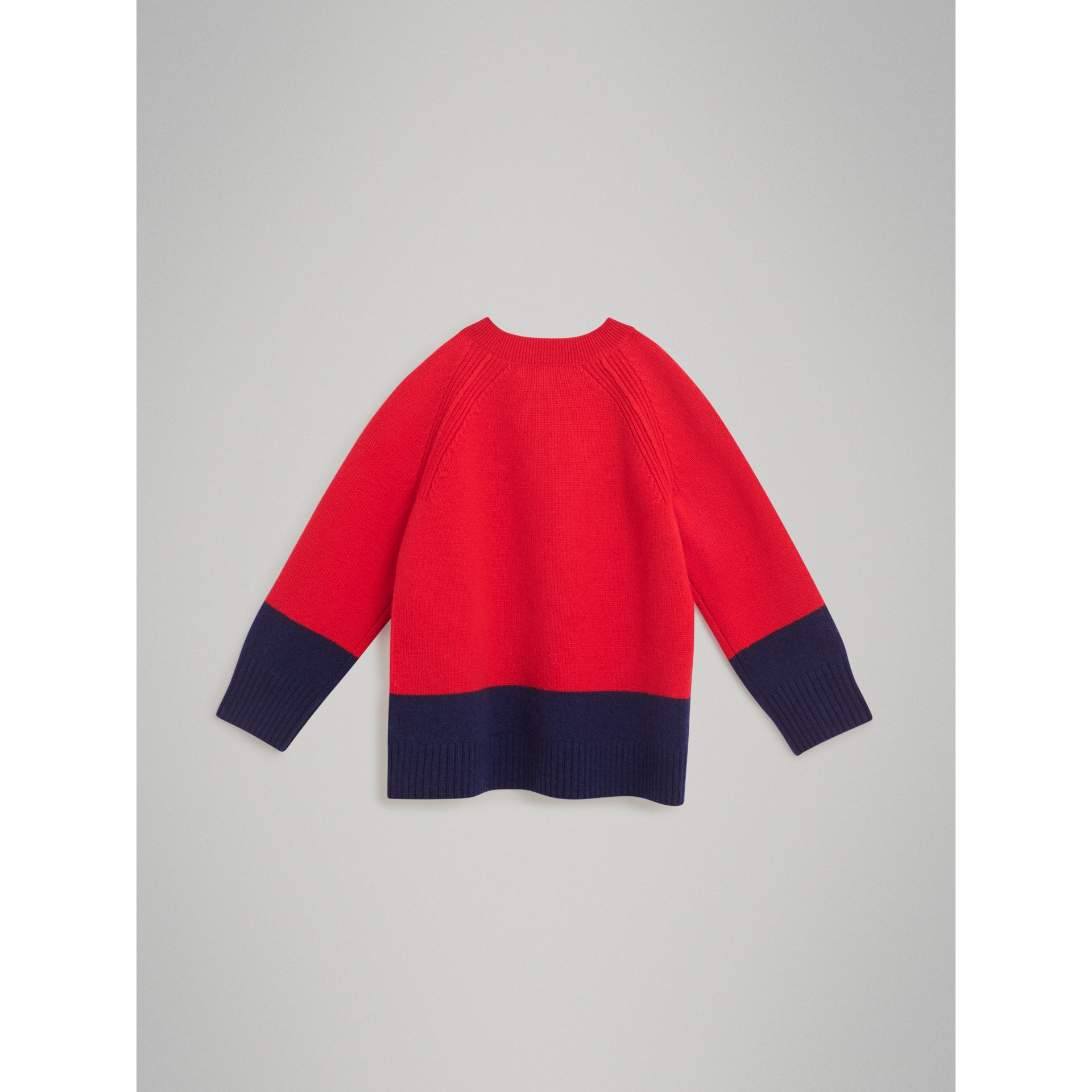 Logo Intarsia Cashmere Sweater in Bright Red | Burberry Australia - gallery image 3