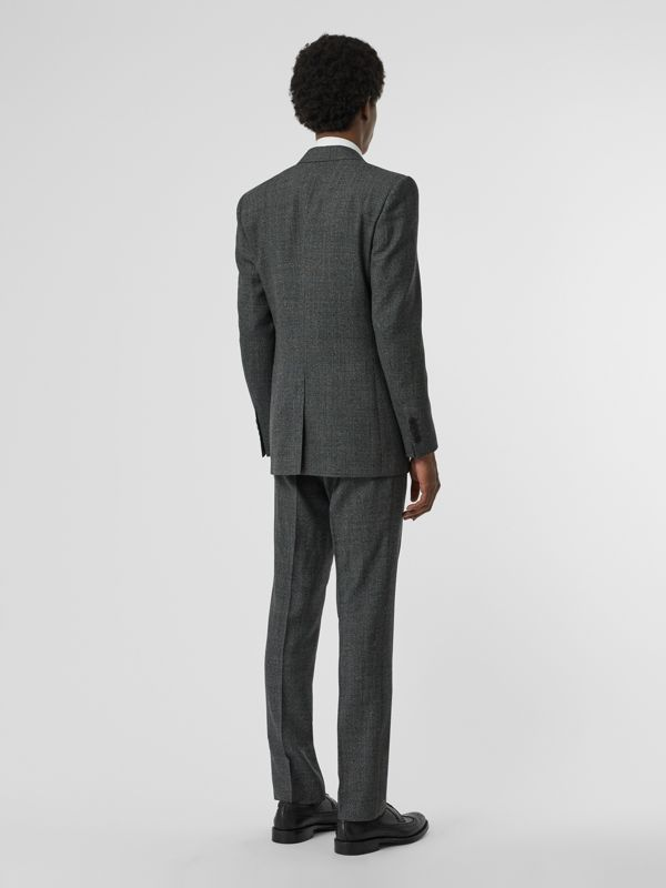 Classic Fit Melange Wool Three-piece Suit in Charcoal - Men | Burberry - cell image 2