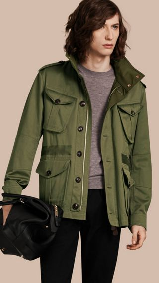 Hooded Cotton Field Jacket