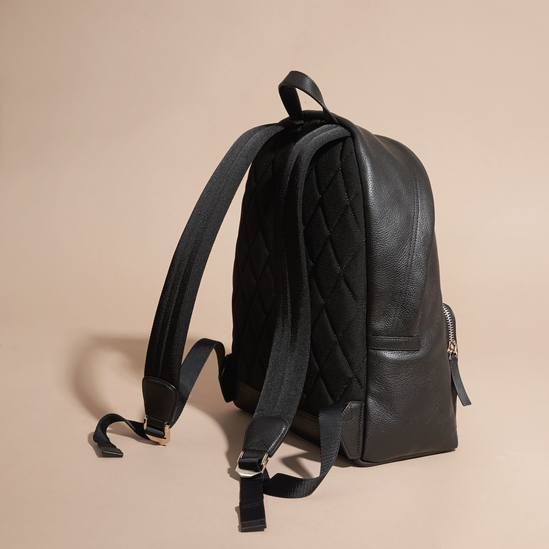 Grainy Leather Backpack - gallery image 5