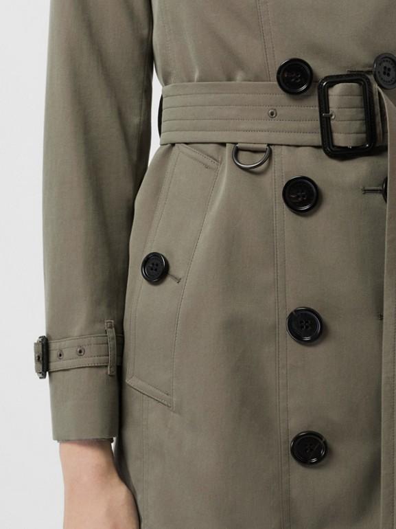 Тренч Sandringham из габардина (Зеленый Мел) - Для женщин | Burberry - cell image 1