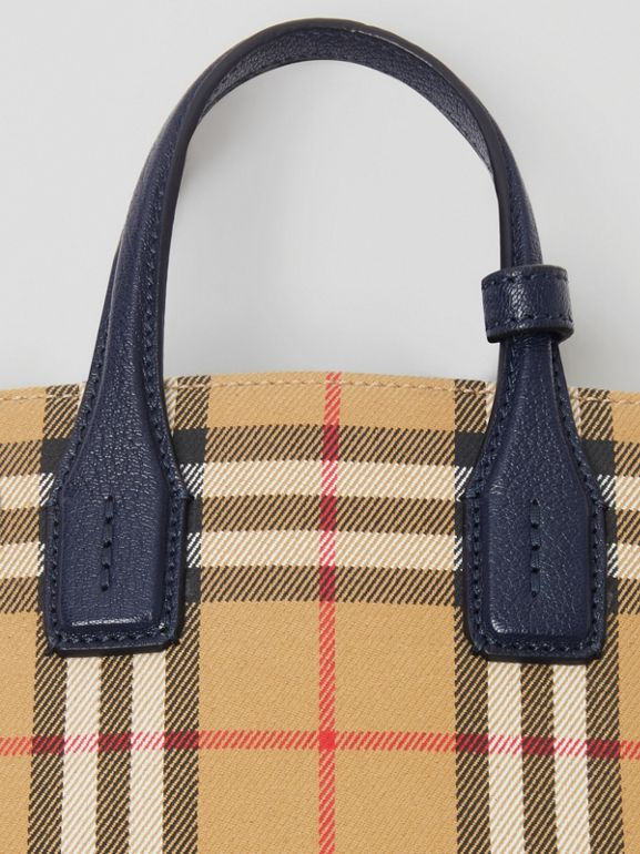 The Baby Banner in Vintage Check and Leather in Regency Blue - Women | Burberry - cell image 1