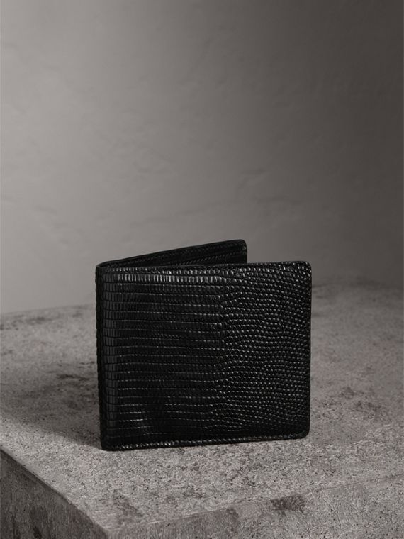 Lizard International Bifold Wallet in Black