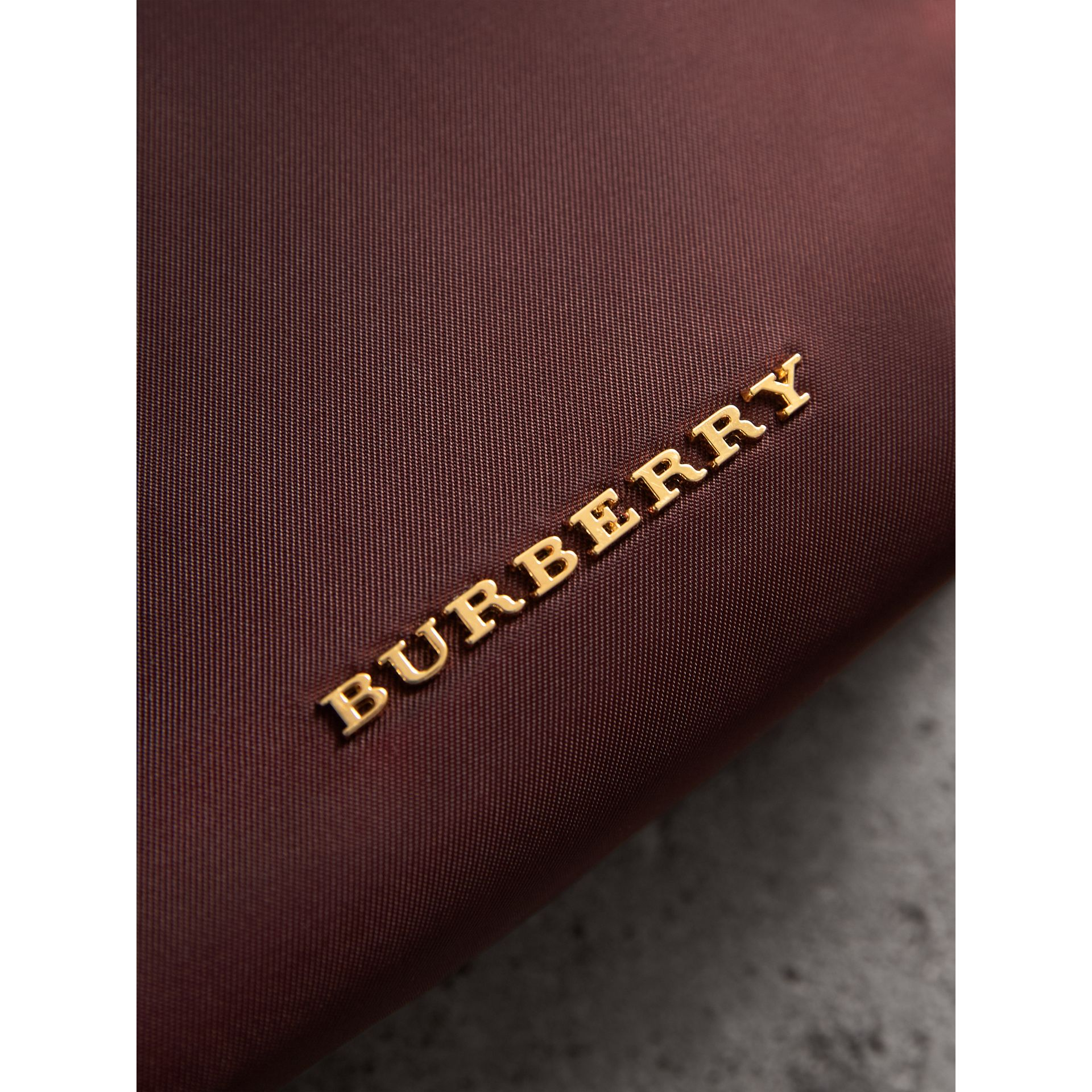 Small Zip-top Technical Nylon Pouch in Burgundy Red - Women | Burberry - gallery image 5