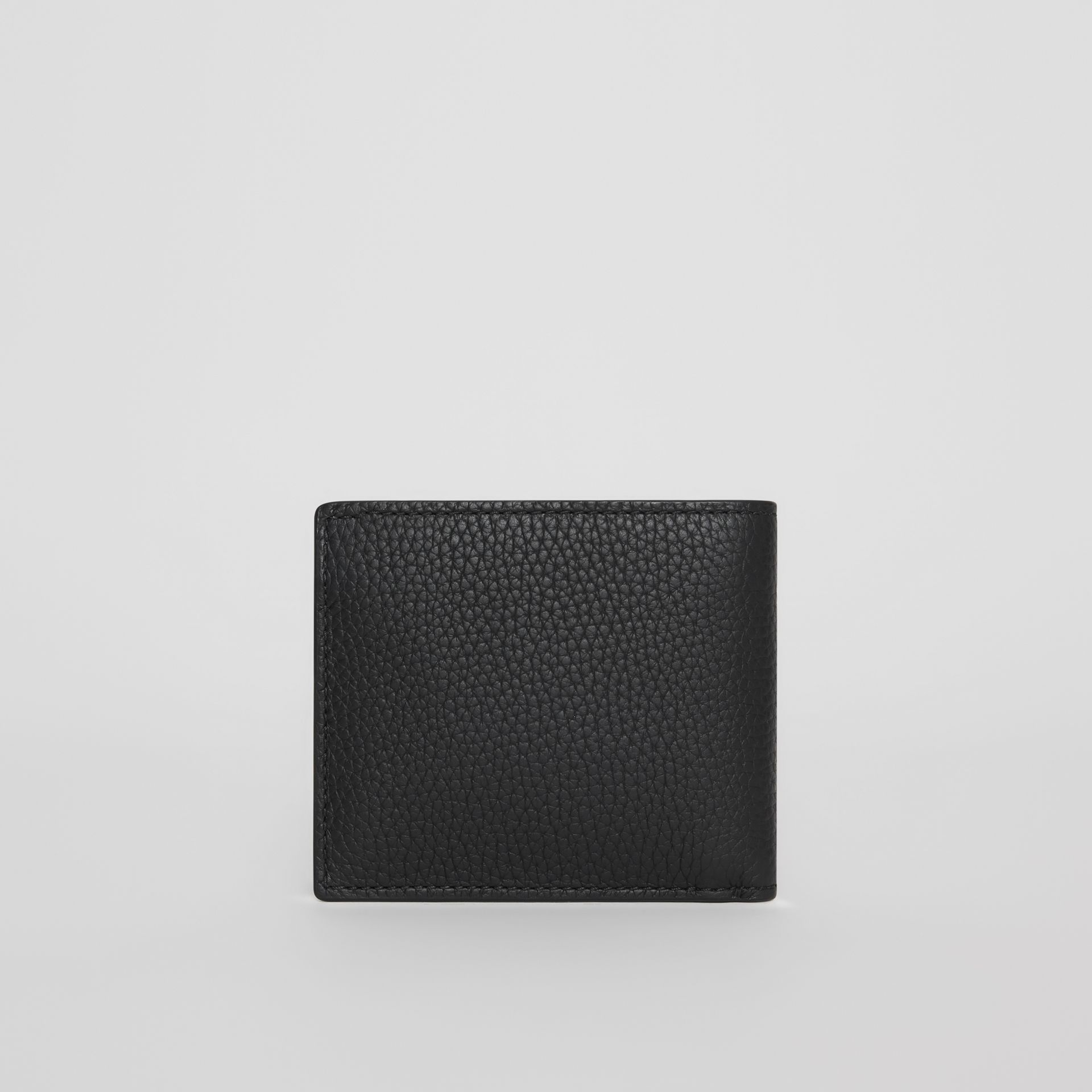 Embossed Leather Bifold Wallet in Black - Men | Burberry Australia - gallery image 5
