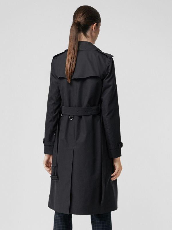 The Long Kensington Heritage Trench Coat in Midnight - Women | Burberry United States - cell image 2