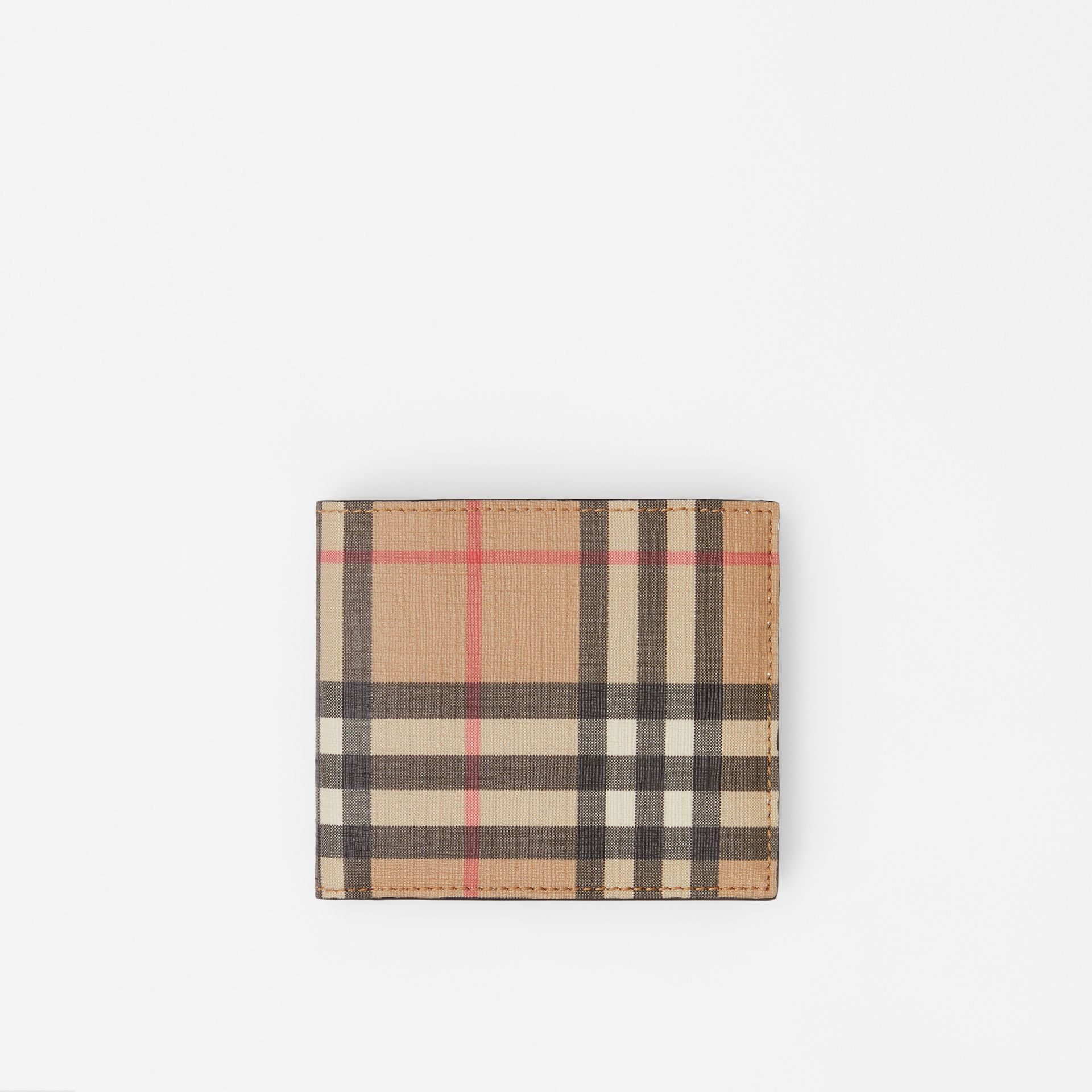 Vintage Check International Bifold Coin Wallet in Archive Beige - Men | Burberry - gallery image 0