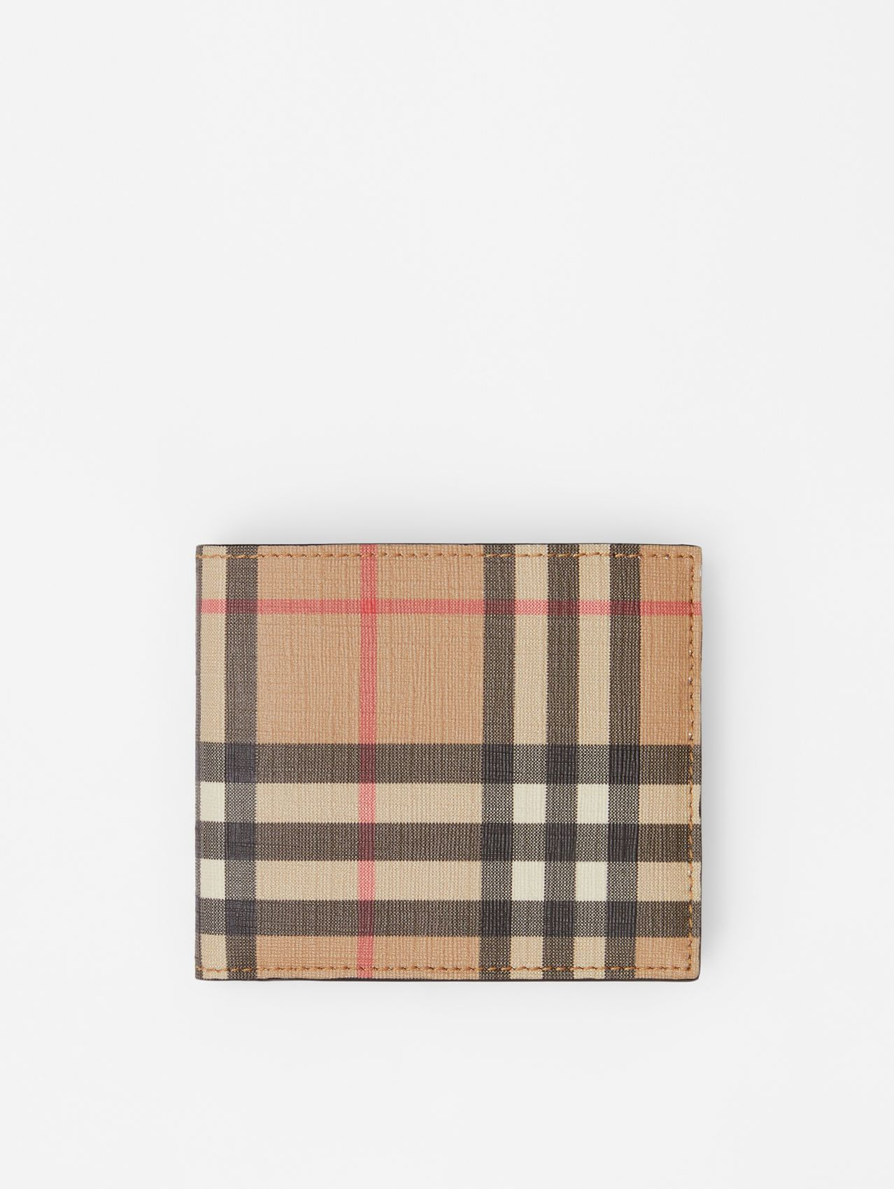 Vintage Check International Bifold Coin Wallet in Archive Beige