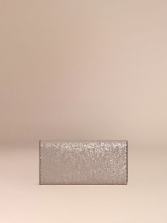 Pale grey Patent London Leather Continental Wallet - cell image 3