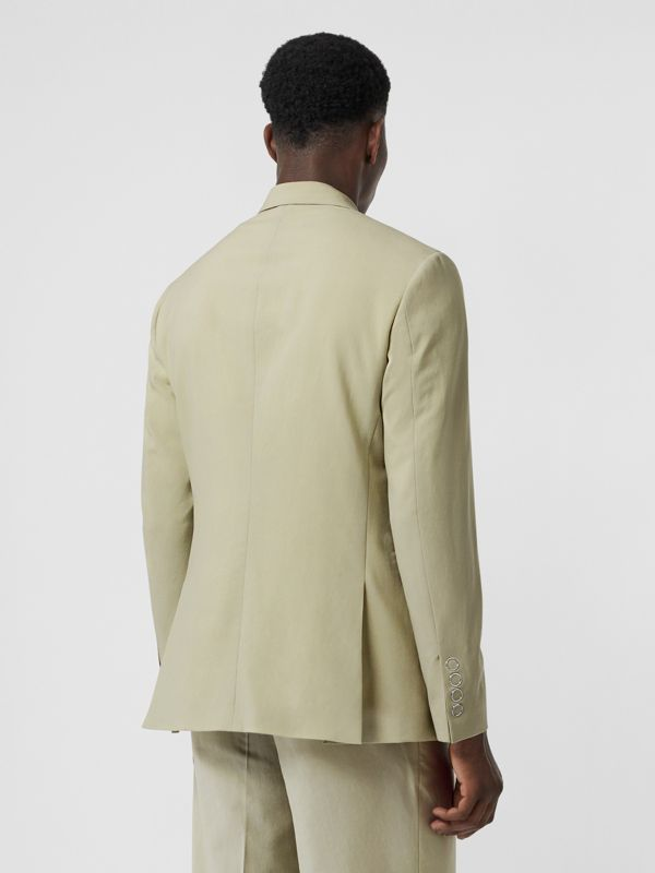 Slim Fit Press-stud Wool Tailored Jacket in Matcha | Burberry - cell image 2
