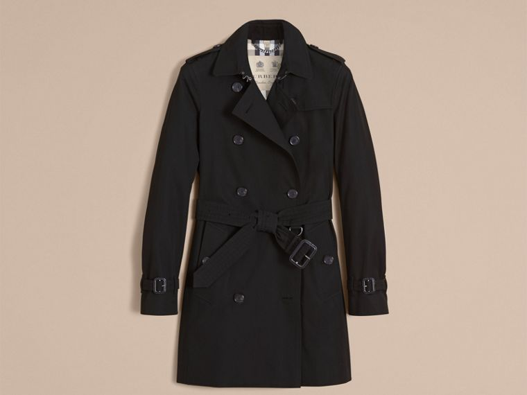 Black The Kensington – Mid-Length Heritage Trench Coat Black - cell image 4