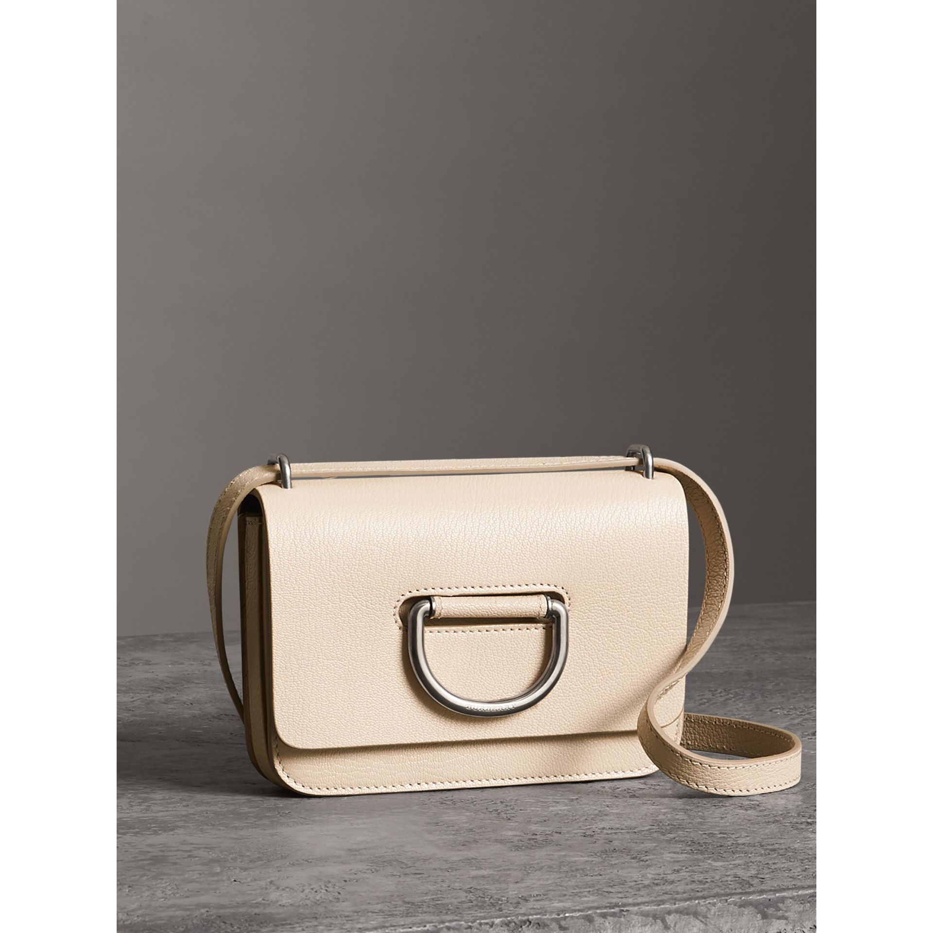 The Mini Leather D-Ring Bag in Stone - Women | Burberry Australia - gallery image 6
