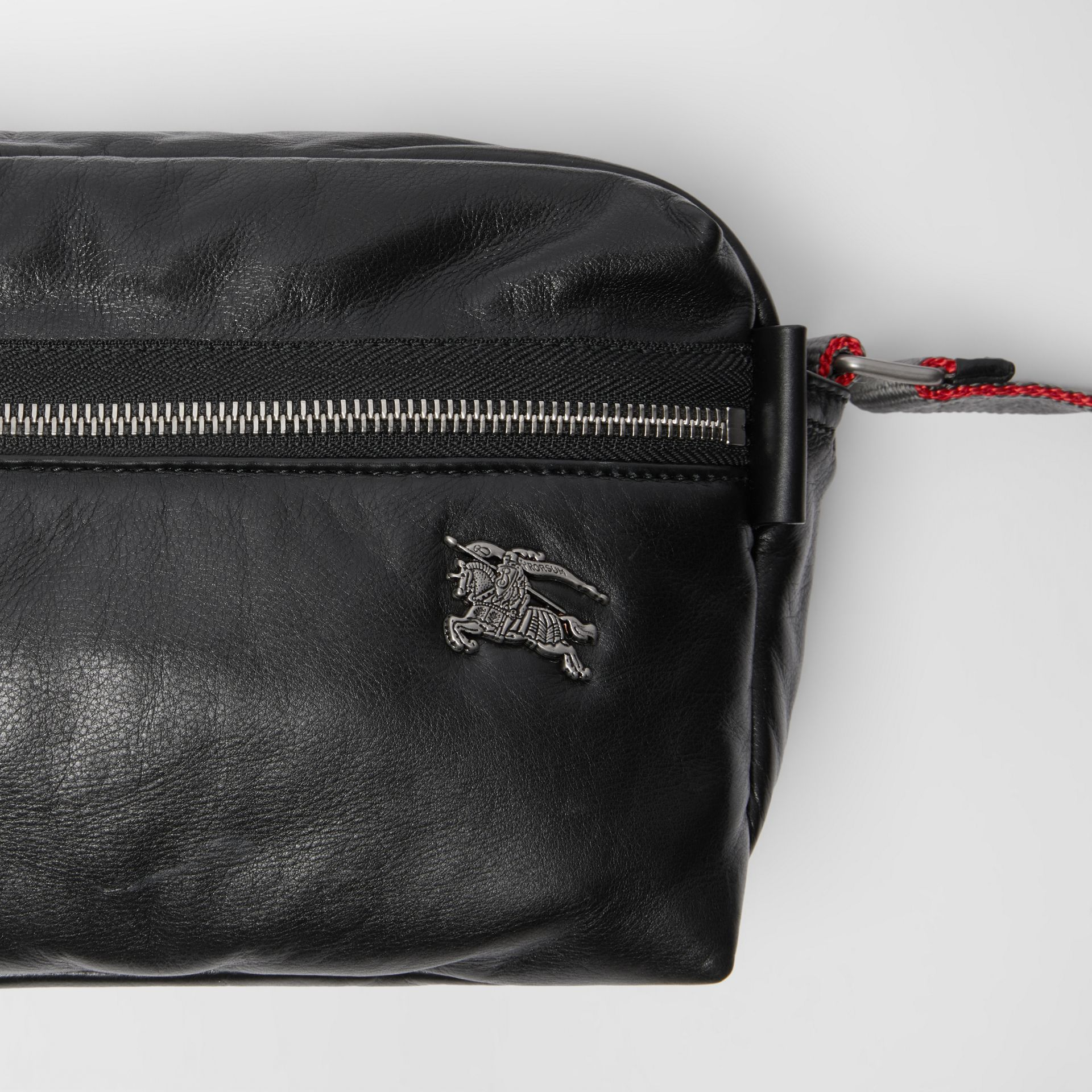EKD Nappa Leather Crossbody Bag in Black - Men | Burberry United States - gallery image 1