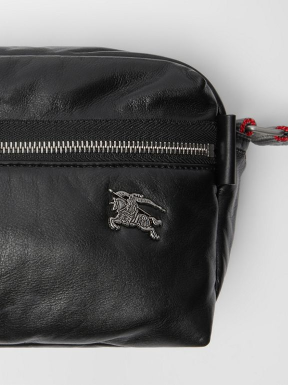 EKD Nappa Leather Crossbody Bag in Black - Men | Burberry United Kingdom - cell image 1